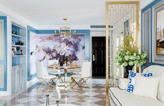 蓝色餐厅设计参考图