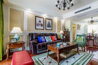 135平美式三居室客厅装修效果图