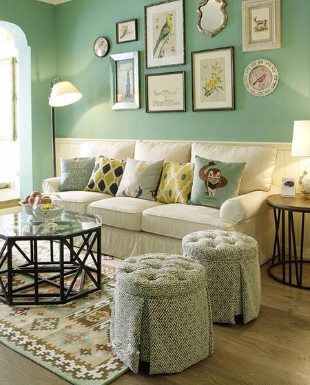 客厅舒适三人沙发图片