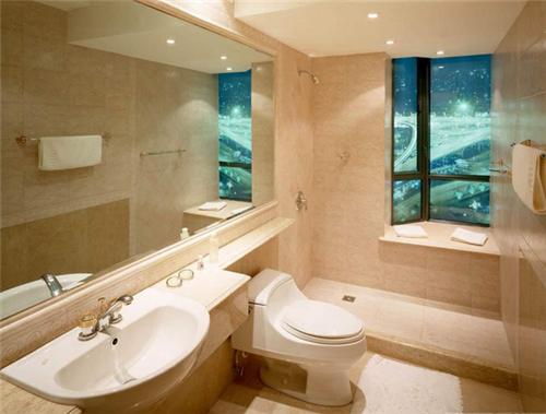 长方形卫生间装修效果图 2017长方形卫生间就这样装