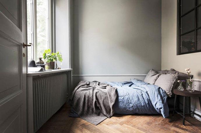 卧室床头背景设计构造图片