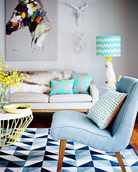 彩色客厅设计平面图