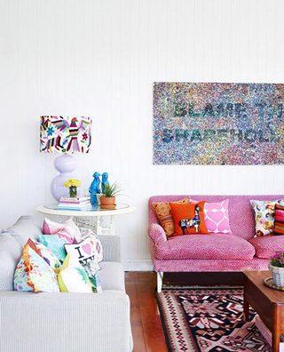 彩色客厅布置参考图片