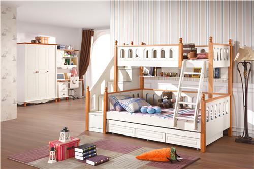 儿童高低床效果图 双层床图片欣赏