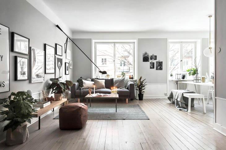 52平单身公寓装修客厅效果图