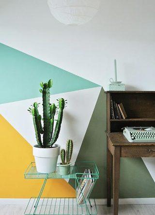 几何图案背景墙装修装饰效果图