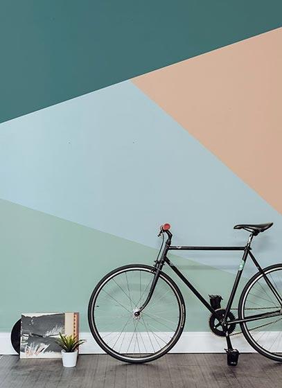 几何图案背景墙设计图片