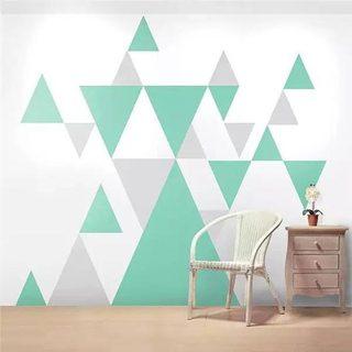 几何图案背景墙装修造型图