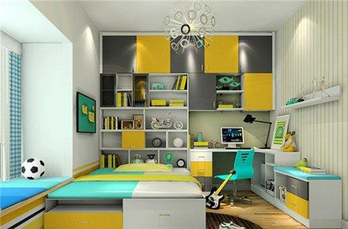 小孩卧室装修效果图 儿童房布置精巧设计图片