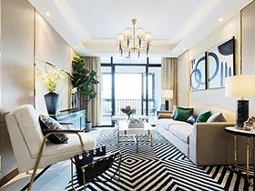 80㎡现代风格二居室效果图  分享快乐心情