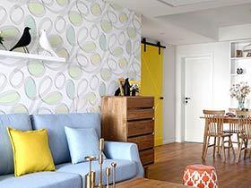 140平北欧风格三房二厅装修 彩虹般的家