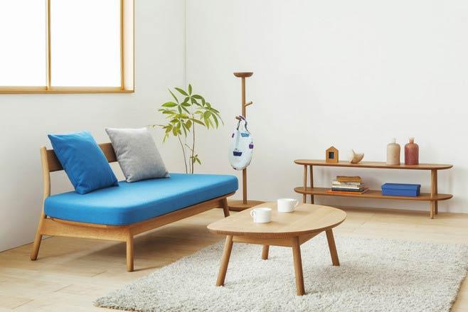 日式风格客厅装修木地板