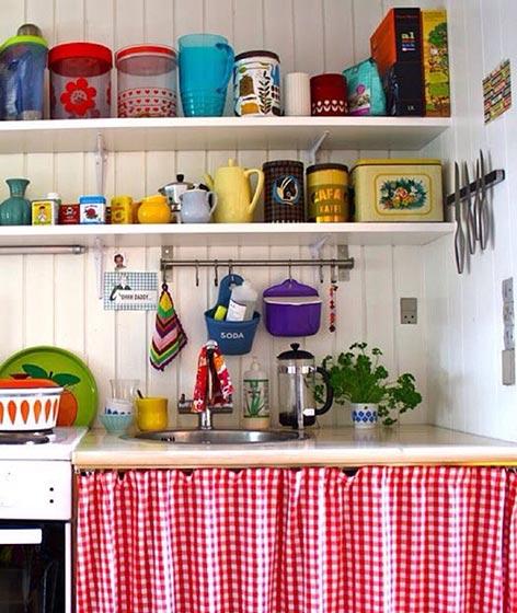 厨房收纳背景装饰图片大全