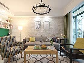 140平北欧混搭风格三居室装修 温馨人家