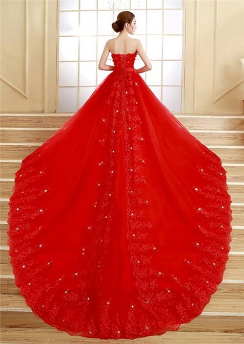 红色婚纱照图片精选 红色婚纱代表什么