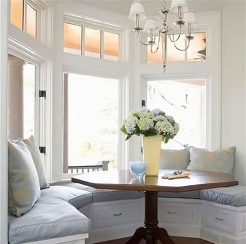 餐厅飘窗装修效果图 小户型超实用的餐厅飘窗设计