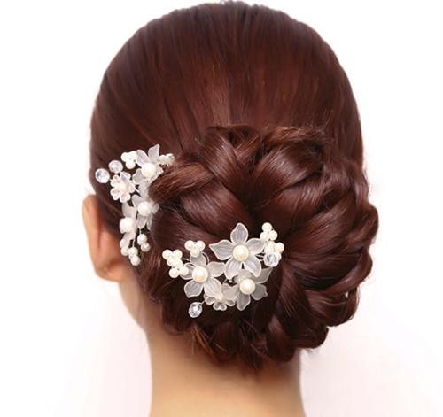 新娘跟妆发型图片 韩式新娘发型详细步骤图片