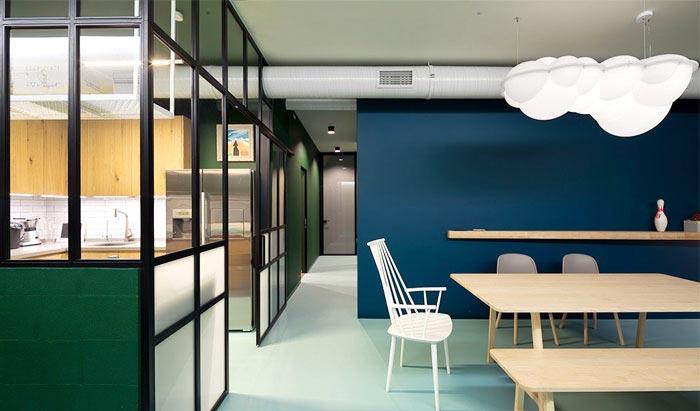 80平米单身公寓整体效果图
