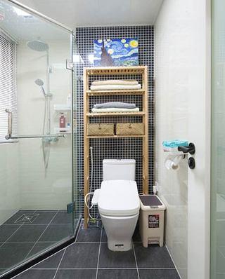 90平北欧小三居淋浴房设计图