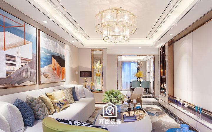 8W打造两居室户型美式风格