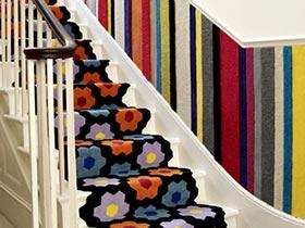 脚下生花  10款楼梯地毯设计图片