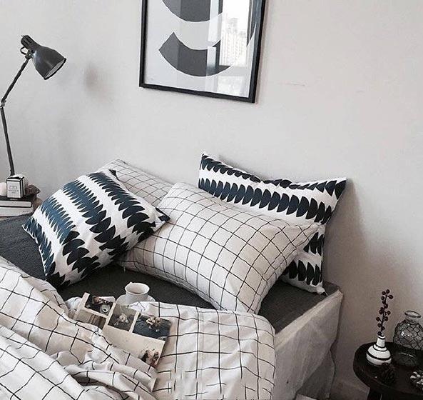 卧室布艺床装修装饰效果图