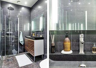 黑色系卫生间装修装饰效果图