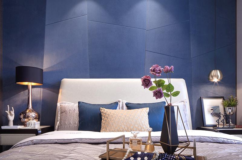 混搭样板房装修卧室床头背景墙