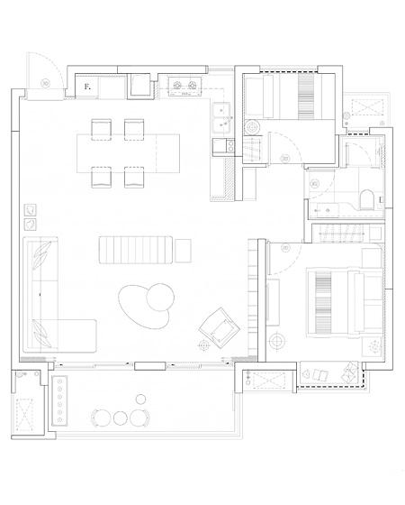 混搭样板房装修平面设计图