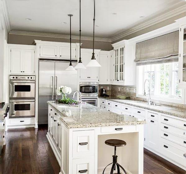 美式开放式厨房装修装修效果图