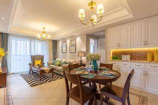 96平美式三居室餐厅图
