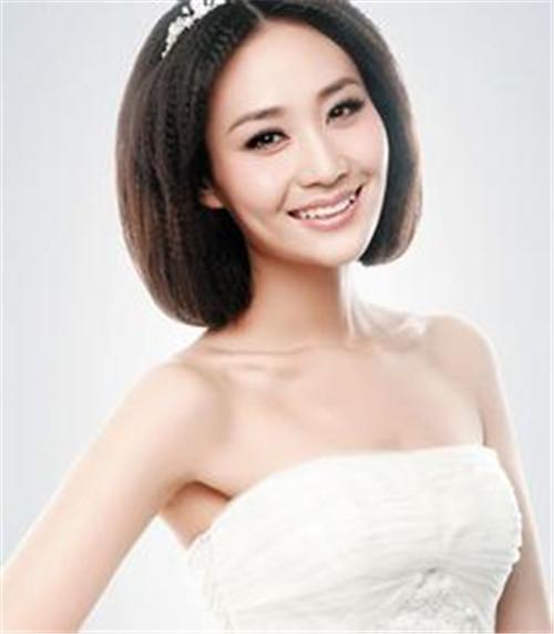 新娘发型短发图片欣赏 短发新娘适合什么造型