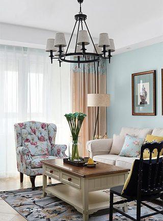 80㎡轻美式公寓装修装饰效果图