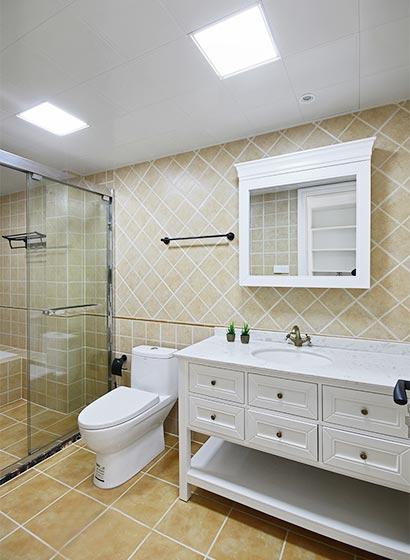 80㎡轻美式公寓卫生间布置图
