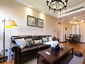 110平美式风格三室两厅装修 时间的印迹