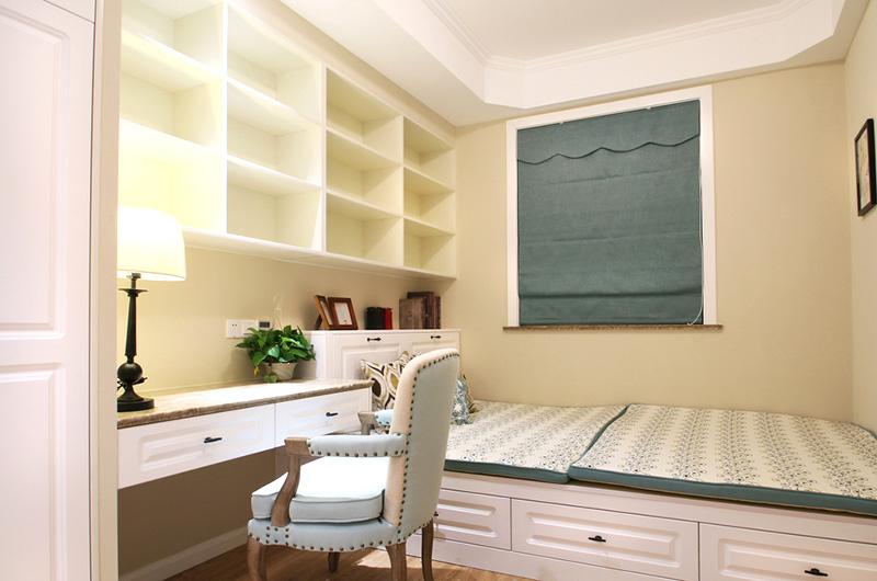 100平美式风格二居书房榻榻米装修