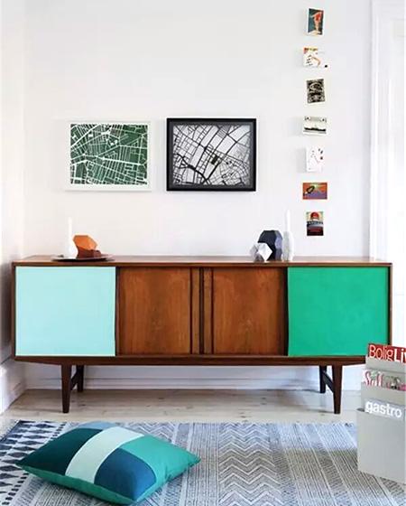 客厅彩色橱柜设计图