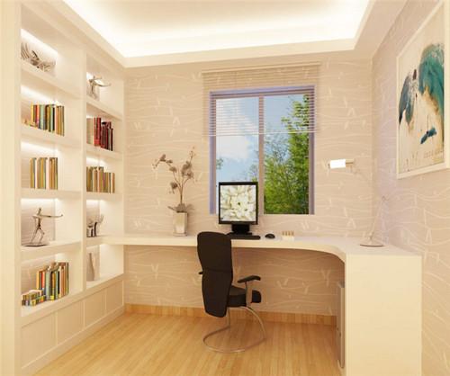 装修效果图三室一厅之书房