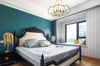135平美式风格三居主卧室效果图