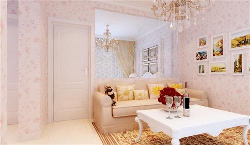 客厅贴壁纸效果图 个性化墙面壁纸演绎完美生活