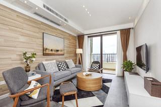 70平北欧风格二居客厅效果图