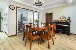 145平米美式三居室餐厅效果图