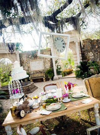 婚礼餐桌实景图片大全