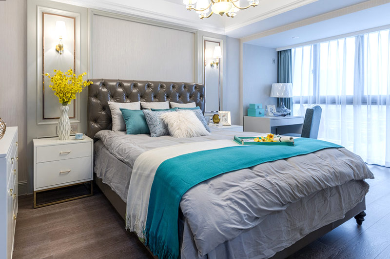 147平美式三居室主卧室设计