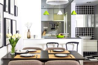 90平北欧风格三居餐厅效果图