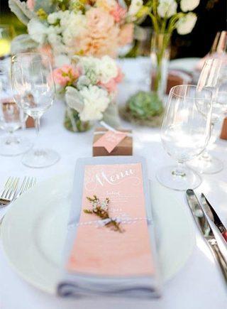 婚礼餐桌装饰参考图片