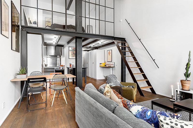 61平小户型loft公寓楼梯装修图片