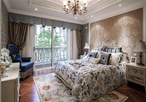 欧式别墅装修效果图 简欧别墅卧室装修尽显高大上图片