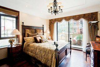 美式复古卧室装修图片大全