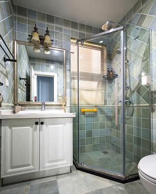 143平美式四居室淋浴房效果图